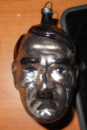 WW2 Christmas ornaments, Adolf Hitler Head
