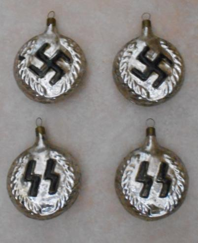WW2 Christmas Ornaments, SS Runes